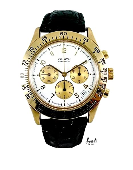 Reloj hombre Vintage Oro 18 Kt Zenith automático Original garantía revisionato