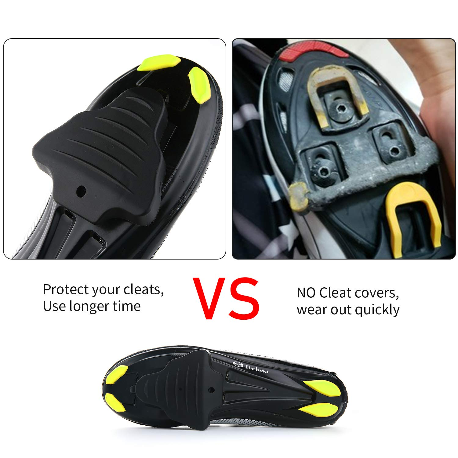 e68f61af878b0d Amazon.com : LANNIU Road Bike Cleats+Cleat Covers Set, Compatible with Shimano  SPD-SL Pedals SM-SH11 Cleats, 6 Degree Float for Road Bike Outdoor/Indoor  ...