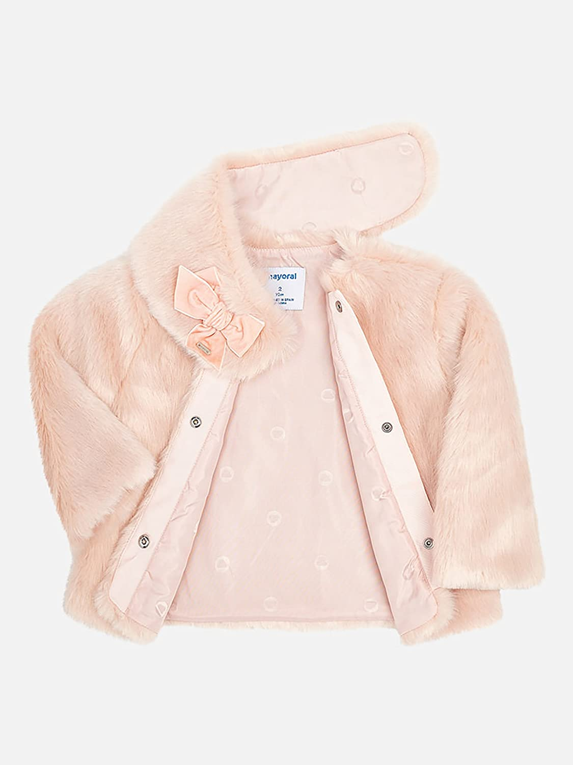Amazon.com: Mayoral 18-04494-091 - Fur Coat for Girls 7 Years Nude: Clothing