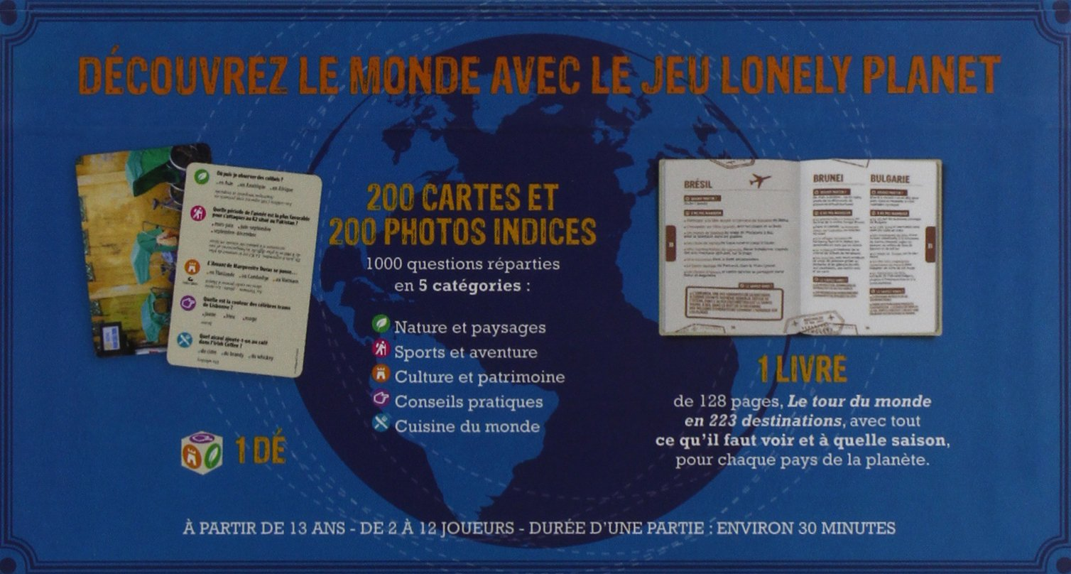 Amazon.fr - Le tour du monde en 1000 questions - un jeu Lonely Planet - 1ed  - Christophe CORBEL - Livres