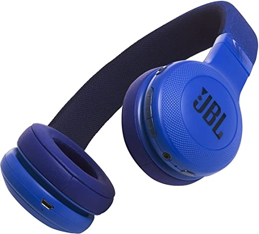 JBL E45BT - Auriculares Supraaurales Inalámbricos Plegable Incluye Cable de Tela con Universal de 1 Botones de Mando a Distancia con Micrófono Integrado, ...