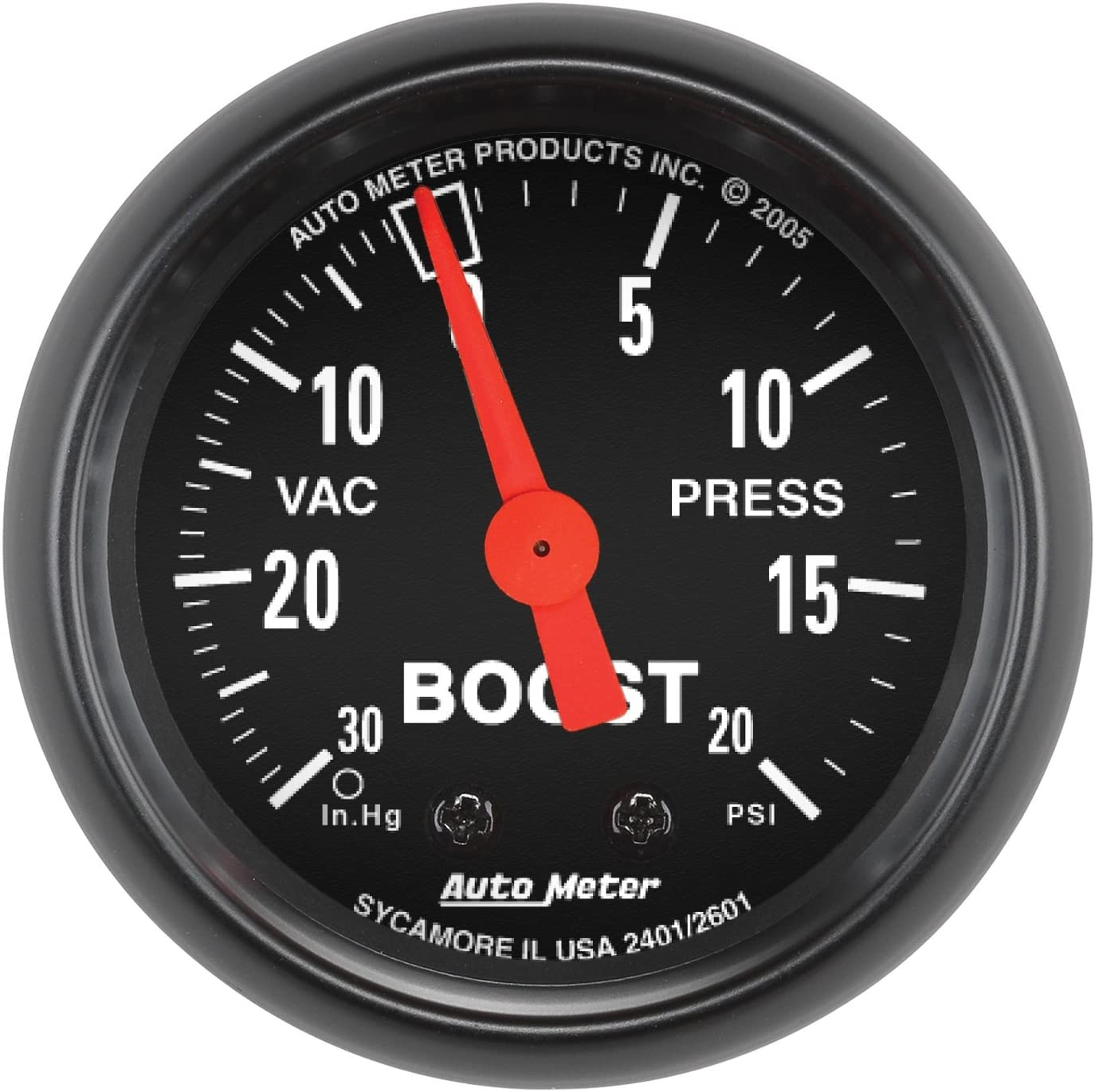 "Auto Meter 2601 Z-Series 2"" Mechanical Vacuum/Boost Gauge"