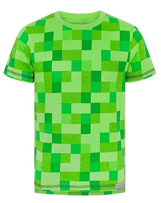 Minecraft - Camiseta de manga corta - Manga corta - para niño Verde verde 5-