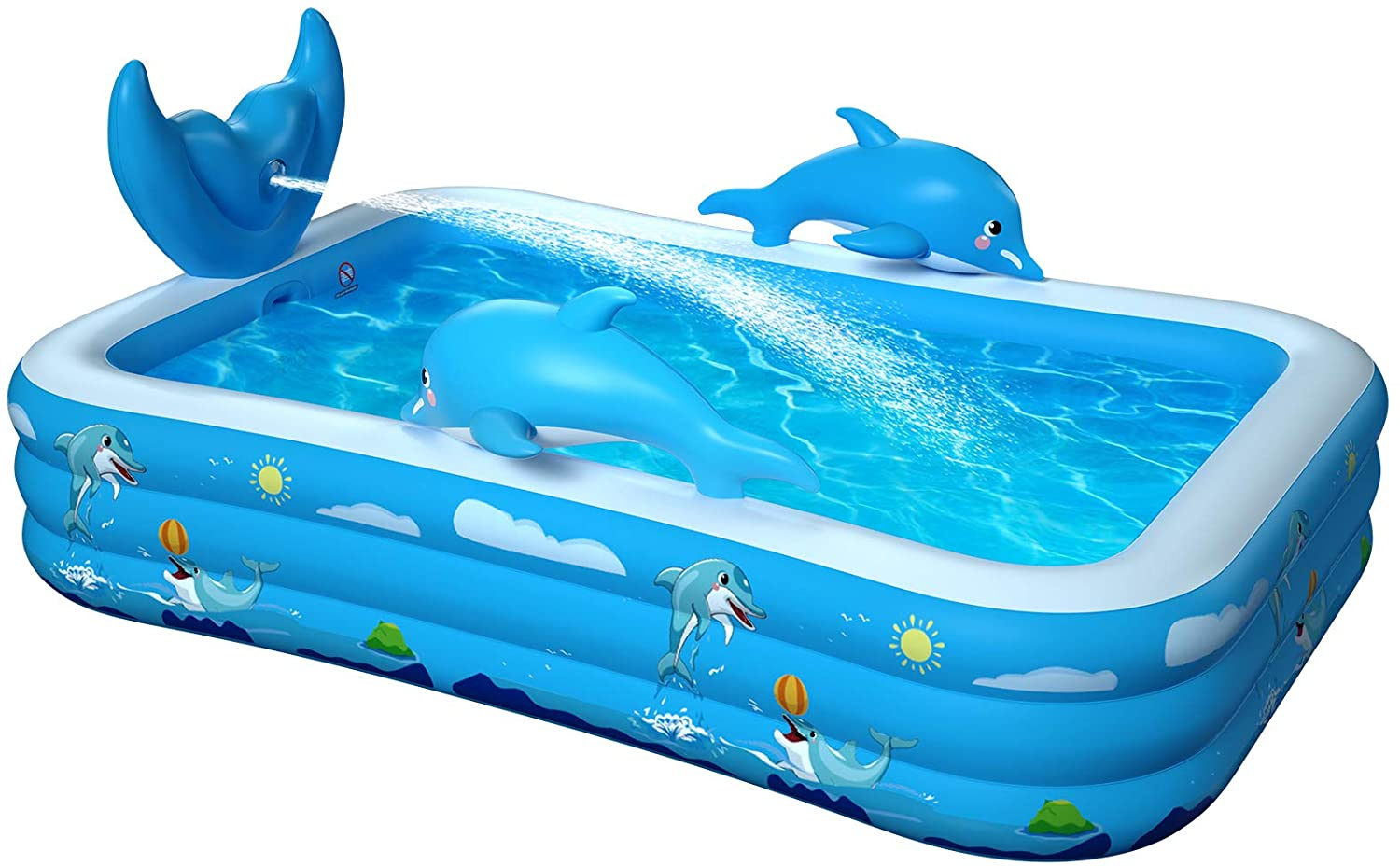 Inflatable Pool for Kids Family Oxsaml 98