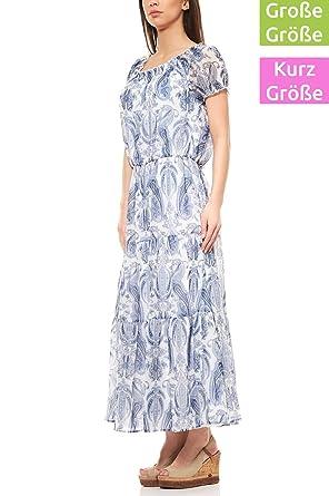 RICK CARDONA by Heine Kleid Maxikleid Freizeitkleid Kurzgröße Große Größe  Weiß 0ba60772a3