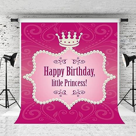 Amazon.: Kate 5x7ft Happy Birthday Princess Backdrop Baby Pink