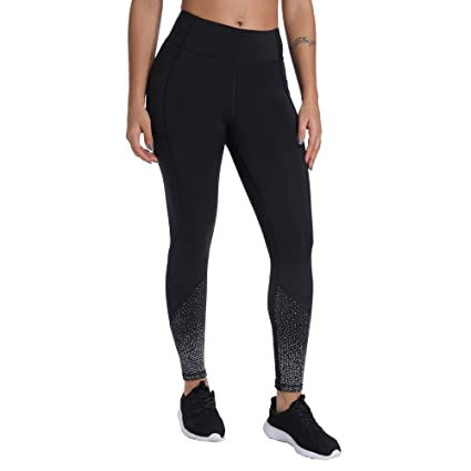 45d08b2617 ANBENEED Women's Reflective Soft Gym Workout Leggings Mid Rise Yoga Pants  Non See Through Active Athletic