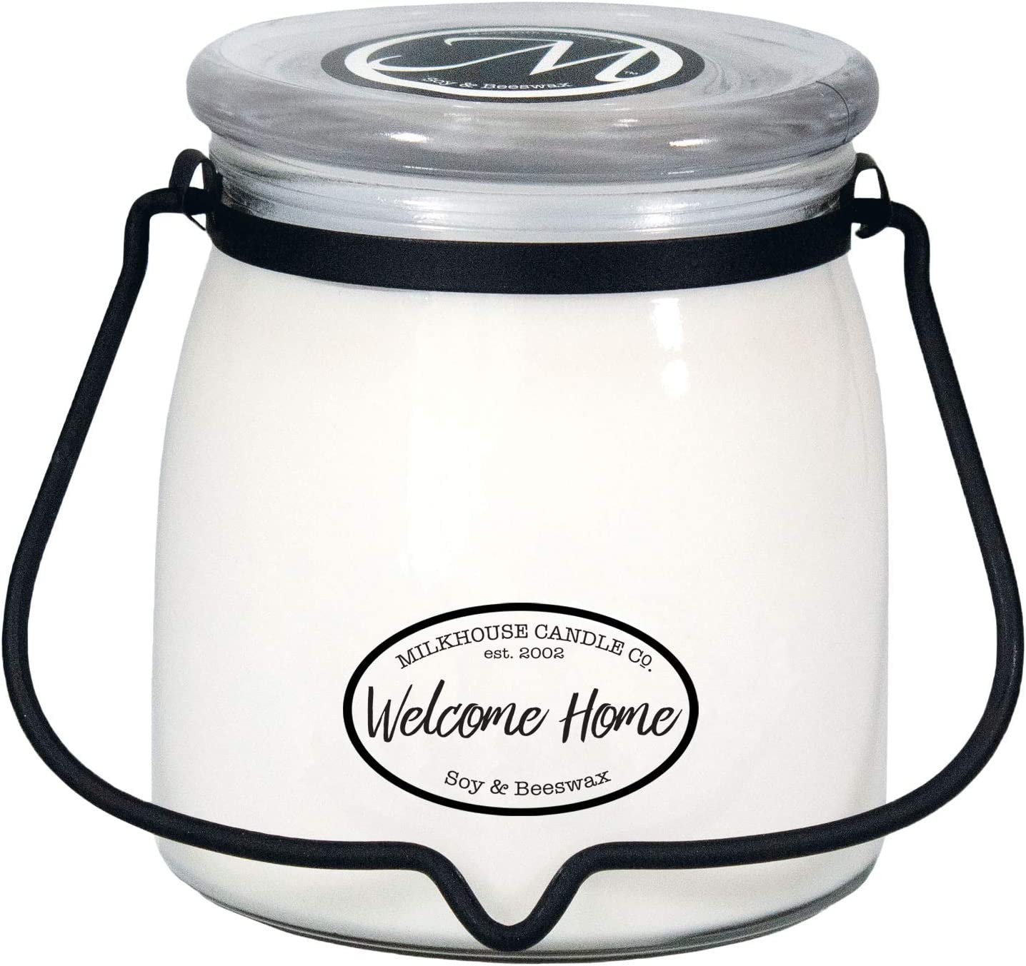 Milkhouse Candle Creamery Butter Jar Candle, Welcome Home, 16-Ounce