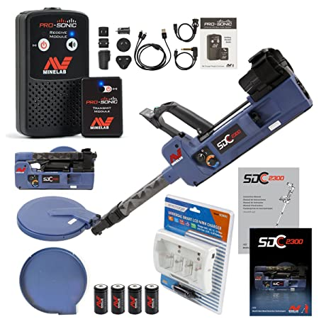 Amazon.com : Minelab SDC 2300 Metal Detector Special with PRO-SONIC Wireless Audio System : Garden & Outdoor