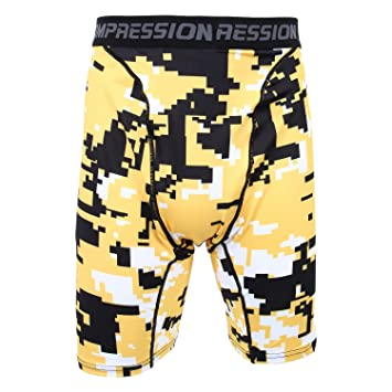 feb72be666 SODIAL(R) New Running Sport Mens Basketball Tight Compression Shorts Gym  Fitness Clothing Training