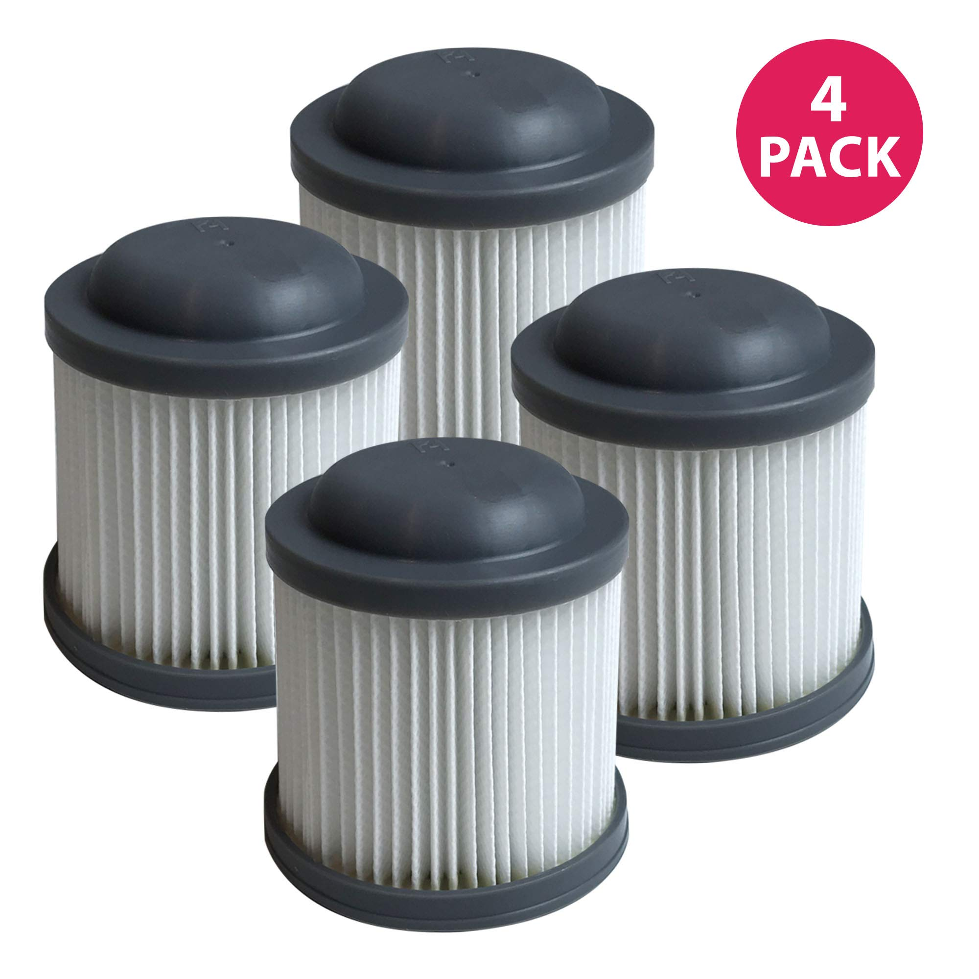Think Crucial Replacement Vacuum Filters Compatible with Black and Decker Vacuums, Washable and Reusable Filter Part - Parts VF100, VF100H - Fits Model PVF110, PHV1210 and PHV1810 Bulk (4 Pack)