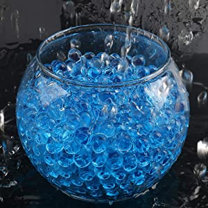 PMLAND 90000 Pieces Vase Filler Water Beads Growing Crystal Gel for Home Decoration Wedding Centerpiece Floral Plants Helper Fun Toys and More - Light Blue