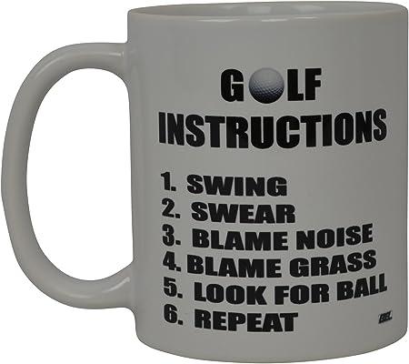 Meilleur Funny Golf Mug A Cafe Golf Instructions Fantaisie Tasse