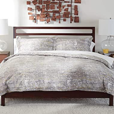 Ethan Allen Dezi Abstract Printed Duvet Cover, Full/Queen