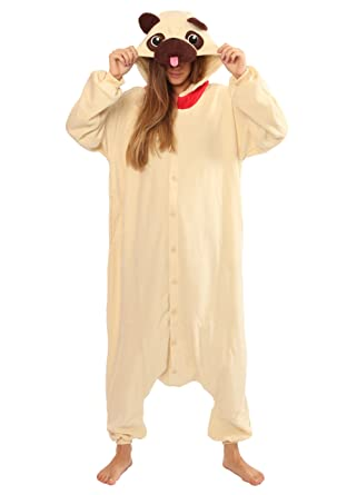 0b8dcdbac Amazon.com: Pug Dog Kigurumi - Adult Costume: Clothing