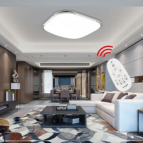 HG® 12W LED Luz de techo Moderno Interior Lámpara Escaleras Interior Lámpara Luz Color y Brillo Luz ajustable [Energy Class A ++]