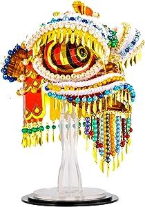 Microworld 3D Laser Cut Metal Puzzle DIY Ornaments Model Building Kit - Z025 Chinese Traditional Culture Lion Dance Figure