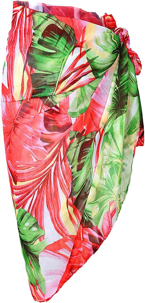 Ayliss Womens Swimwear Chiffon Printed Cover up Beach Sarong Pareo Bikini Swimsuit Wrap