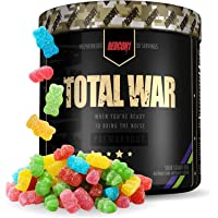 Redcon1 Total War - Pre Workout Powder, 30 Servings, (Sour Gummy) Boost Energy, Increase Endurance and Focus, Beta…