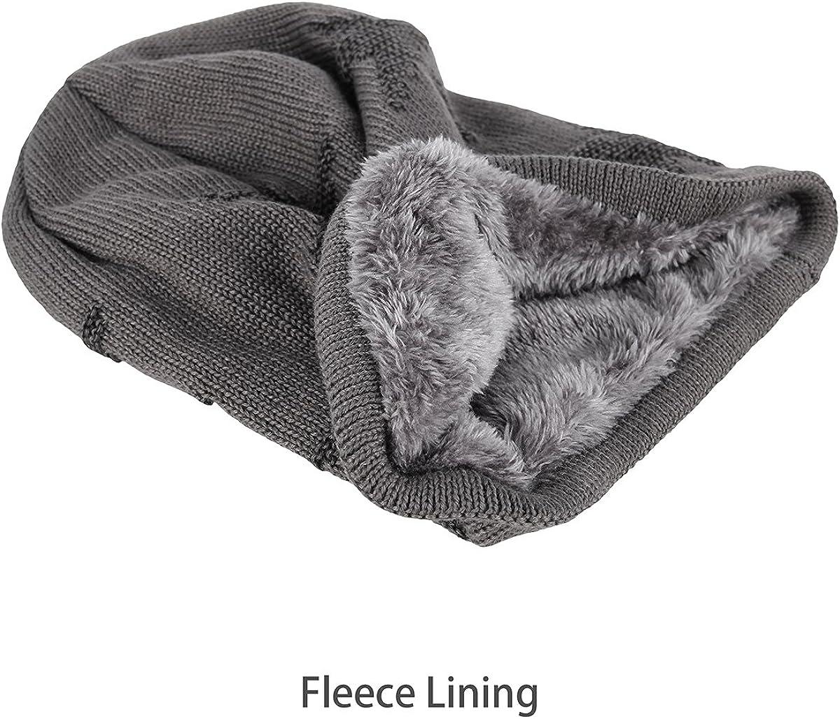 OMECHY Winter Knit Slouchy Beanie Hat Unisex Daily Warm Ski Skull Cap 4 Colors