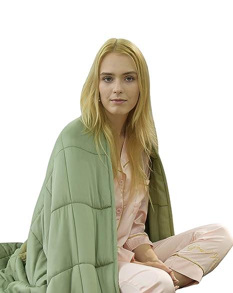 Wany manta pesada de verano para adultos y adolescentes, manta de bambú natural fresco y