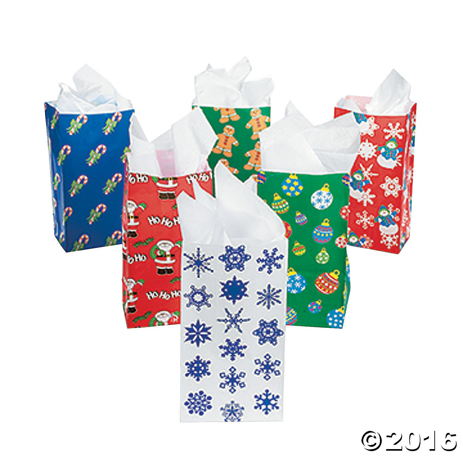 72 Colorful Holiday Goody paper Gift Bags for christmas ...