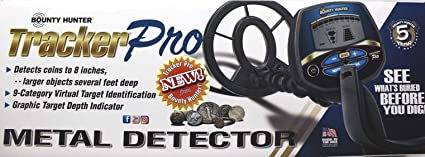 BOUNTY HUNTER TRACKER PRO ADJUSTABLE METAL DETECTOR w/ LCD TARGET ID