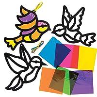 Baker Ross Kits de pájaros decorativos con efecto