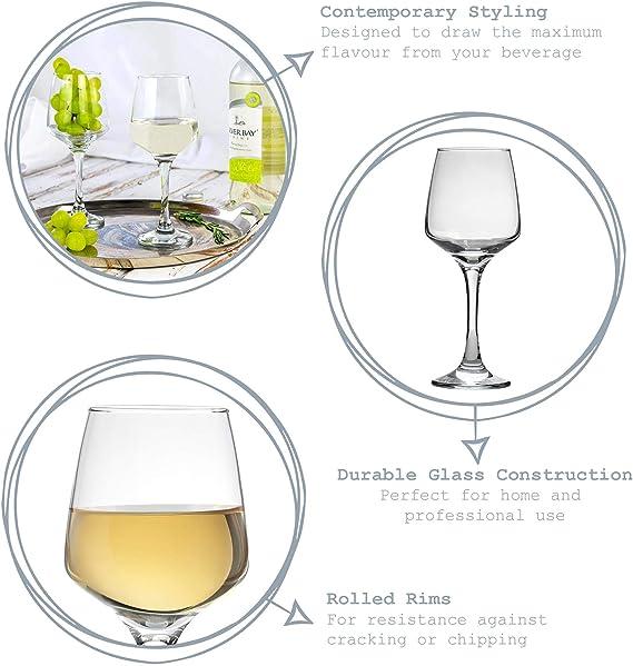Argon Tableware Verres /à vin Blanc contemporains Coffret-Cadeau de 24 Verres