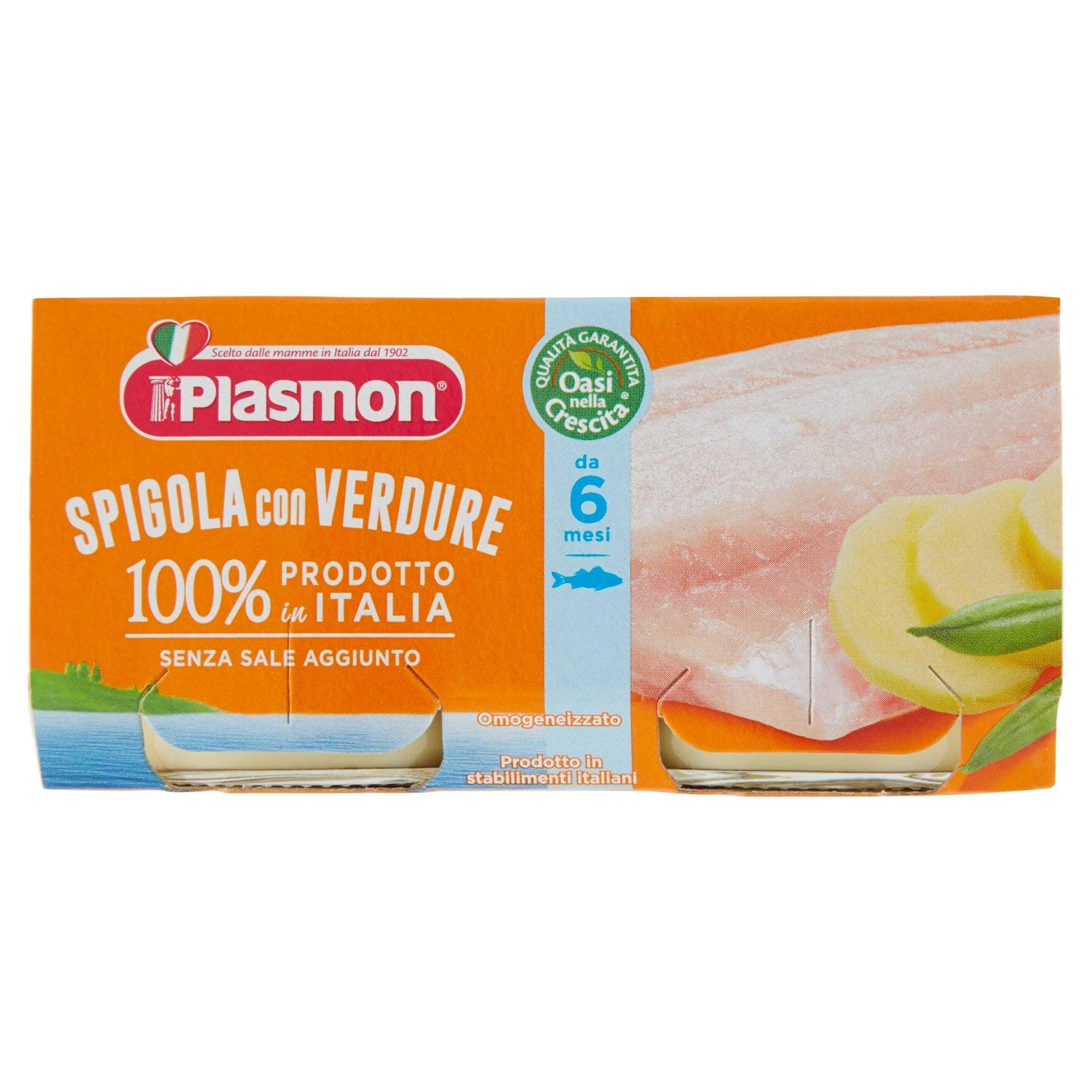 Plasmon Sea Bass Fillet with Vegetables Meal Puree (2x80g)