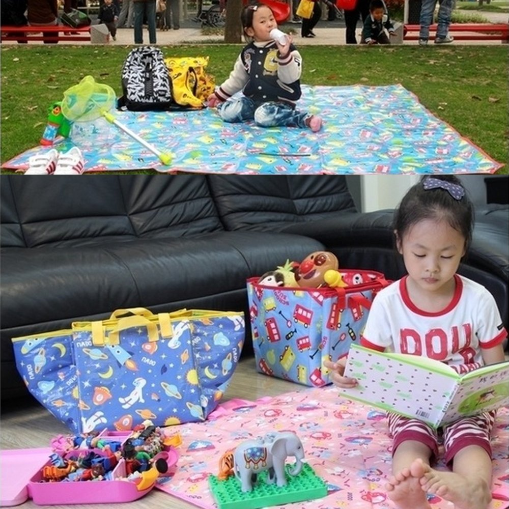 Kasstino Baby Floor Crawling Play Mat Carpet Waterproof Kid Child Beach Picnic Travel Rug (K)