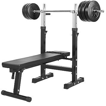 Gorilla Sports Banc De Musculation Avec Ressort Haltères 38 Kg