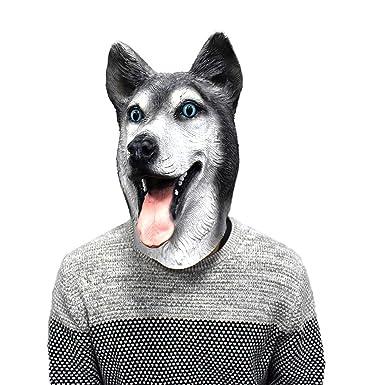 Halloween Dog Latex Mask Novelty Costume Party Fancy Dress Animal Masks Party
