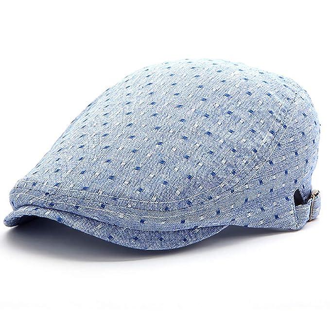 Topdo - Gorra Cuadrada pequeña para Exteriores (luz Azul), 56 - 58 ...