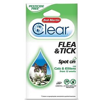 Bob Martin - Spot On - Para pulgas y garrapatas - Gatos - 12 semanas: Amazon.es: Productos para mascotas