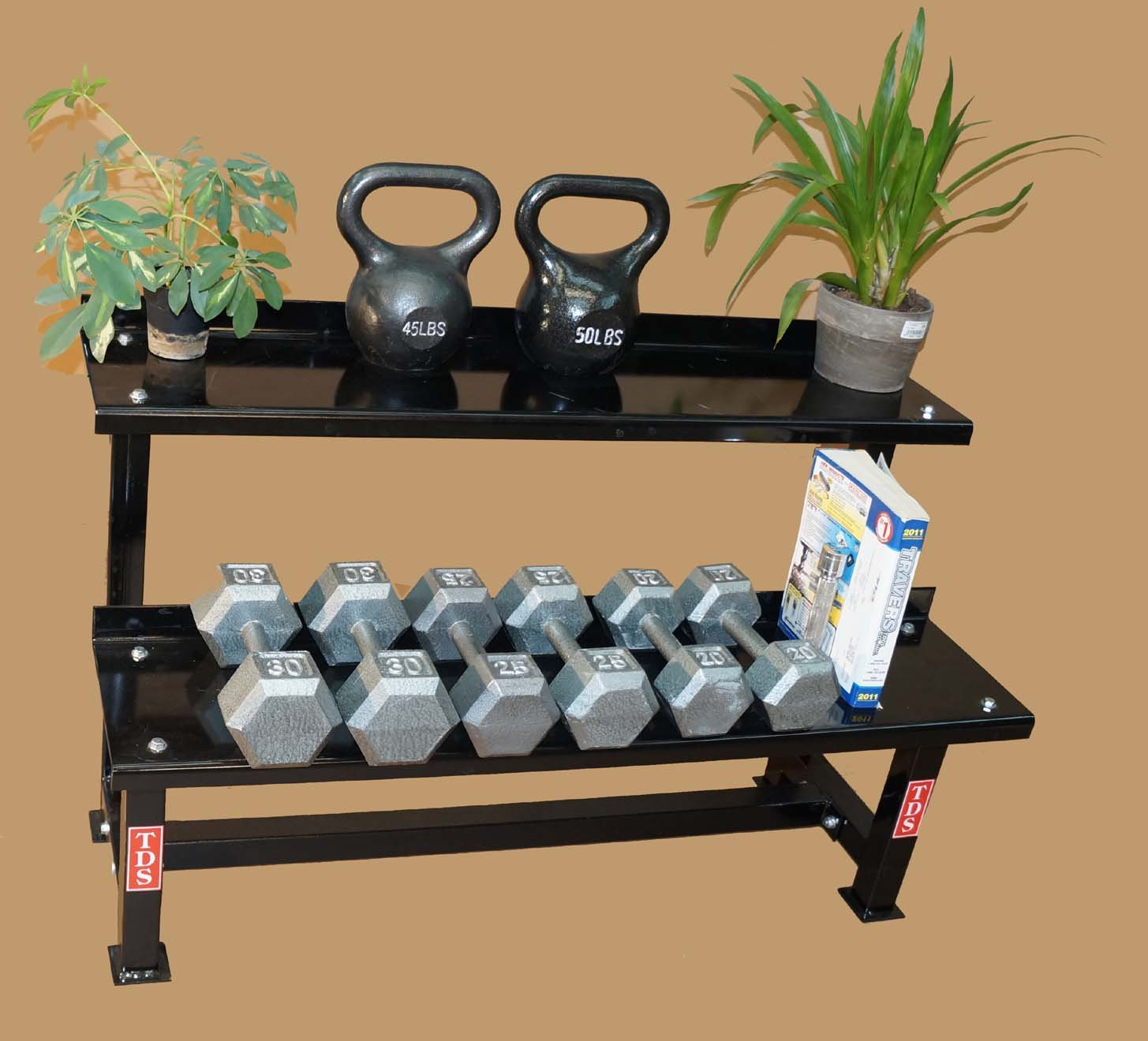TDS Fitness 48'' Rack with 30-80 lb Kettlebell Pkg by New York Barbells by TDS (Image #2)