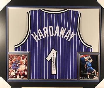 15e6aee6e Penny Hardaway Autographed Signed Orlando Magic 27quotx33quot Custom Framed Jersey  JSA Witnessed COA ...