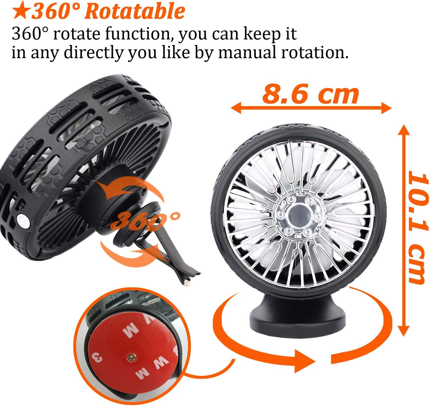 Car Air Vent Mounted USB Fan with Aroma Function,Vision-Life Mini ...