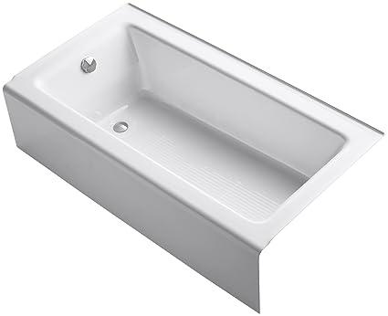 KOHLER K-875-0 Bellwether Bath with Integral Apron and Left-hand ...