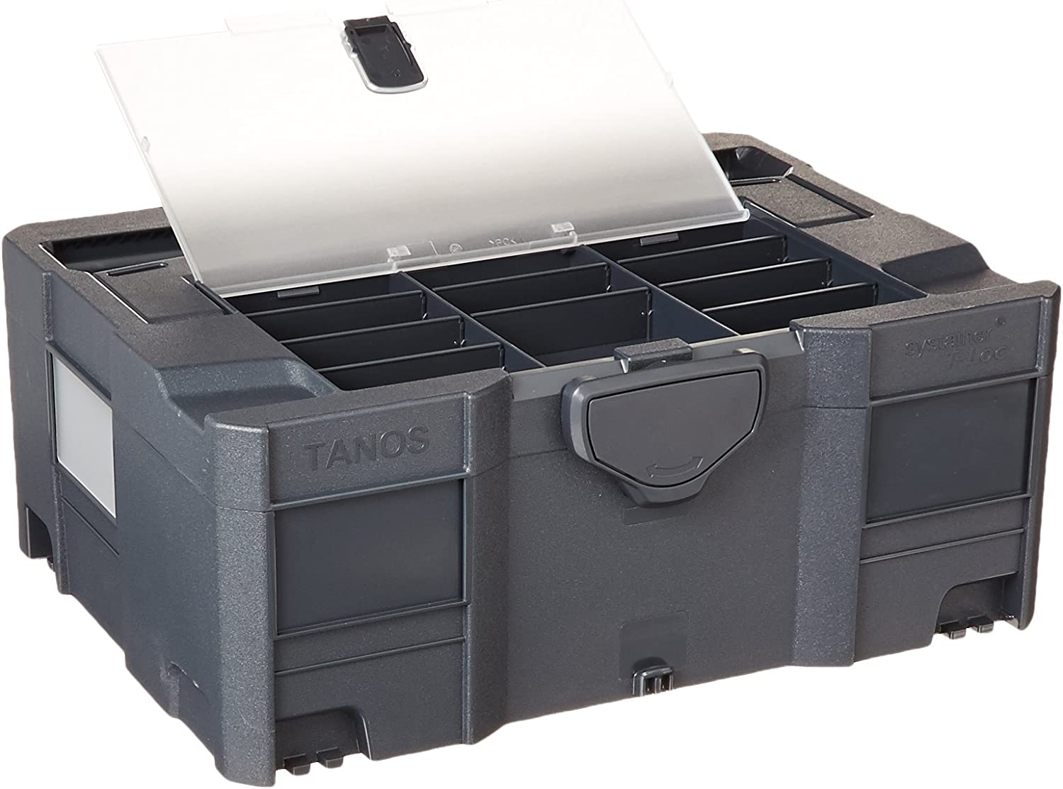 Systainer T-Loc II with Lid sort-Tray Anthracite