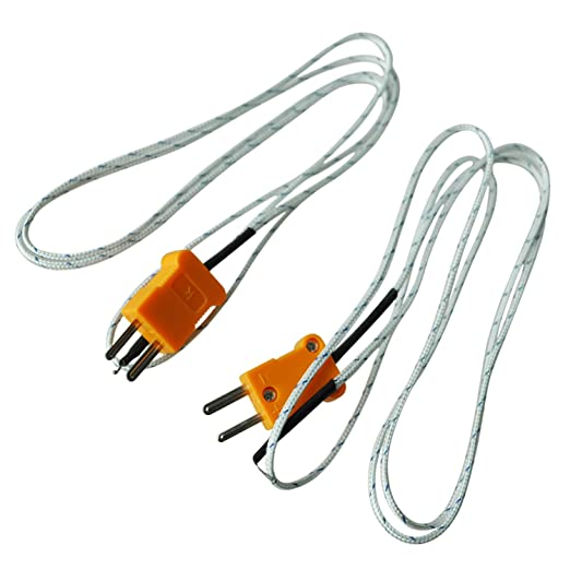 Sodialr 2 Pcs K Type 800c Wire Lead Measuring Thermocouple Sensor 1m 3 3ft: Old Home Wiring Types At Ultimateadsites.com
