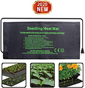 Seedling Heat Mat - Waterproof Plant Nursery Heating Pad for Seed Germination Cloning and Plant Propagation - Indoor & Outdoor Home Gardening Seed Starter Kit - Plant Growing Thermostat Controller (A)
