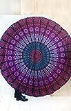 Jaipur Handloom Round Beach Tapestry Hippie/Boho Mandala Beach Blanket/Indian Cotton Throw Bohemian Round Table Cloth…