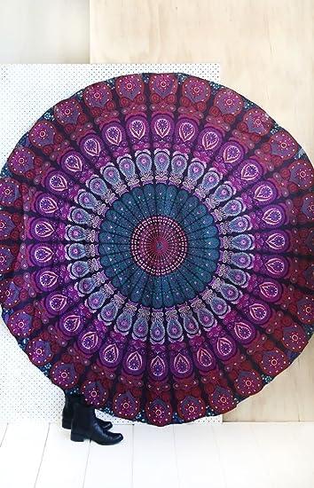 Amazon.com: Tapiz de mandala grande de pavo real Jaipur ...