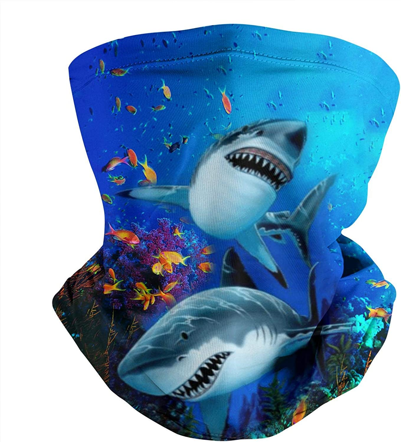 Shark Spartan Seabed Gray Retro Seamless Face Mask Bandana Headwear Neck Gaiter Balaclava for Dust Outdoor Sports