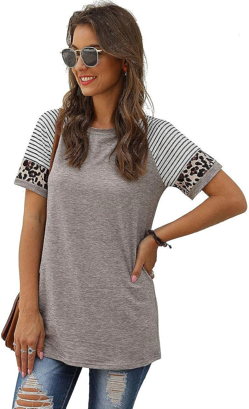 SEBOWEL Oberteile Damen Langarmshirt Farbblock Rundhals Pullover Sweatshirts