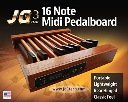 JG3 Tech 16 Note Midi Bass Pedal Foot Controller - 10% OFF LIMITED TIME ONLY