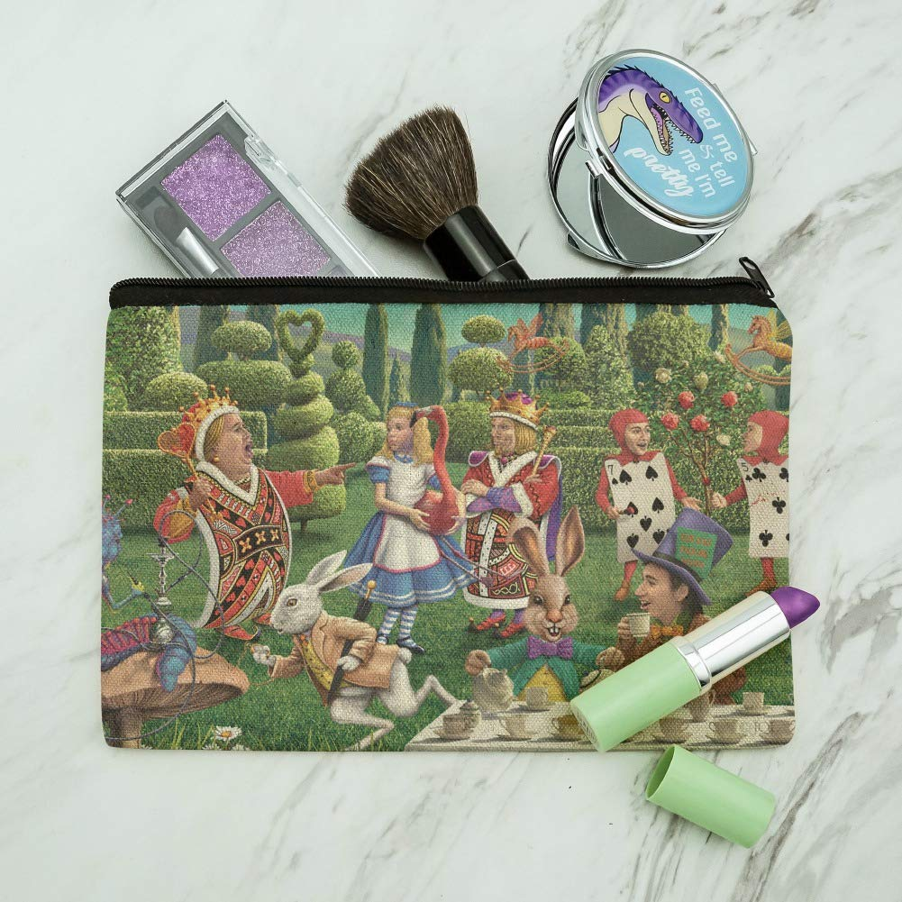 31c807366751 Amazon.com  Alice in Wonderland Garden Party Makeup Cosmetic Bag Organizer  Pouch  Graphics   More