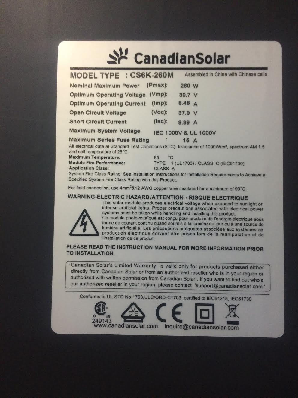 No products are available in your region change your region to find - Amazon Com Canadian Solar 260 Watt Black On Black Monocrystalline Patio Lawn Garden