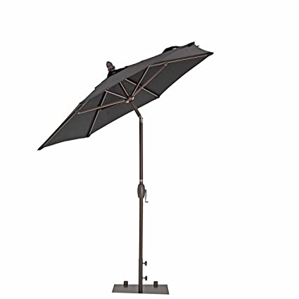 TrueShade Plus Garden Parasol Umbrella With Push Button Tilt And Crank    Includes Storage Cover